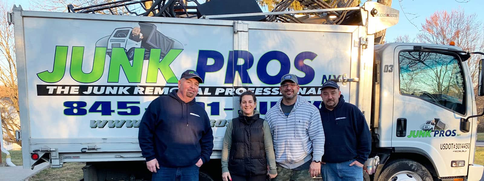 Junk Pros NY team in front of their truck
