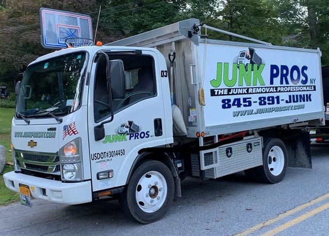 Junk Pros NY truck ready to be loaded